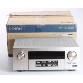 Denon AVR-X4500H 9.2 AV-Receiver WLAN Dolby Atmos Auro-3D ready HEOS, silber (236291)