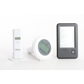 TFA Dostmann Malibu Schwimmbecken-Thermometer Funk-Poolthermometer Teichthermometer 0 bis +60 °C schwarz (236346)