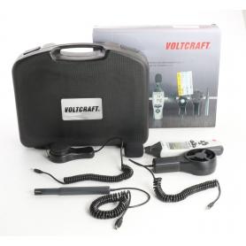 Voltcraft UM5/1 100 Temperatur-Messgerät multifunktions Umweltmessgerät -40 bis +70 °C Luxmeter Hygrometer (236360)