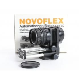 Novoflex Bellows Balgengerät für Olympus OM + Novoflex 60mm 4.0 Noflexar Objektiv (236509)