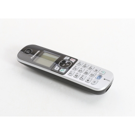 Panasonic KX-TGA681EXB DECT Mobiltelefon Erweiterungshandgerät Rufnummernanzeige schwarz silber (236528)