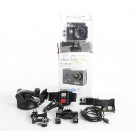 Renkforce RF-AC-4K Action Cam Action-Kamera 16MP CMOS 4K WLAN wasserfest schwarz (236567)