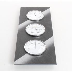 TFA Dostmann 20.3018 analoge Wetterstation Barometer Hygrometer Thermometer Luftdruck Vorhersage grau schwarz (236569)