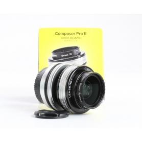 Lensbaby Composer Pro II Sweet 35 35mm F2,5 SLR Festbrennweiten-Objektiv für Fujifilm X manueller Fokus schwarz (237553)