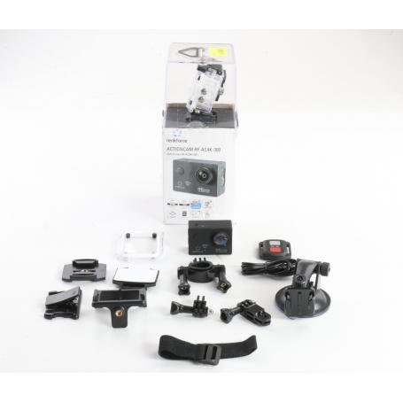 Renkforce RF-AC-4K Action Cam Action-Kamera 16MP CMOS 4K WLAN wasserfest schwarz (237400)