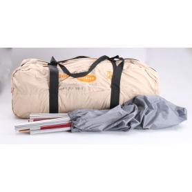 Eurotrail Yellowstone 620 BTC-RS Tunnelzelt Zelt Familienzelt 4 Personen kompakt atmungsaktiv Camping Outdoor beige (238679)