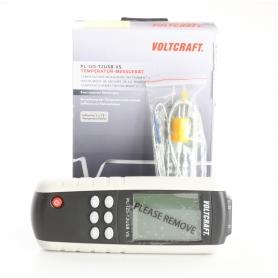 VOLTCRAFT PL-125-T2 Temperatur-Messgerät Fühler-Typ K J Kalibriert nach Werksstandard ohne Zertifikat (238734)