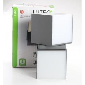 Lutec Cuba A+ LED Außenwandleuchte Außenwandlampe Garten Terasse 23 Watt anthrazit (238741)