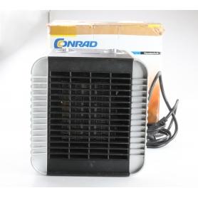 Conrad PTC-Heizgerät PTC-150A 30m² 3 Stufen Überhitzungsschutz Schwarz/Silber (238742)