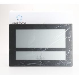 Renkforce C8461 digitale Funk-Wanduhr Temperatur Kalender Luftfeuchte 430x288x32mm schwarz (238797)