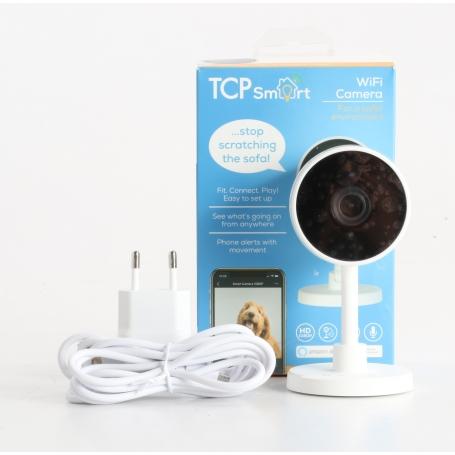 TCP Smart WIFI Outdoor Camera Kompaktkamera Überwachungskamera WLAN IP 1920x1080 Pixel 2,6mm Objektiv weiß (239108)