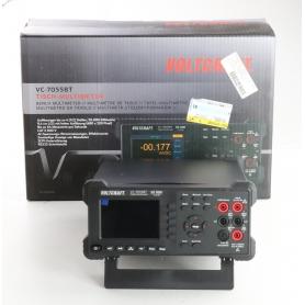 VOLTCRAFT VC-7055BT Tisch-Multimeter Datenlogger CAT I 1000V CAT II 600V 55000 Counts Anzeige digital schwarz (239335)