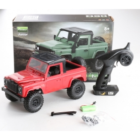 Amewi 22377 Pickup Crawler Modellauto Straßenmodell Fernsteuerung Allradantrieb 4WD RtR 2,4GHz 350x165x195mm rot (239339)