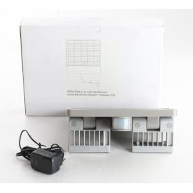ECO-Light Ghost Solar Solar-Außenwandleuchte Lampe Bewegungsmelder 4W 7,4V schwenkbar grau (239353)