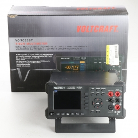 VOLTCRAFT VC-7055BT Tisch-Multimeter Datenlogger CAT I 1000V CAT II 600V 55000 Counts Anzeige digital schwarz (239365)