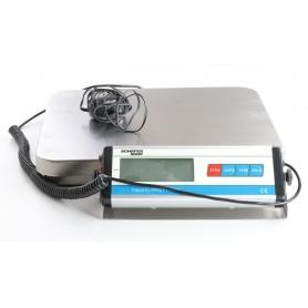 Schäfer Shop Postwaage Paketwaage digital Paket Prief Porto max. 60kg Edelstahl grau (239397)
