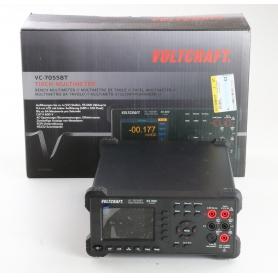 VOLTCRAFT VC-7055BT Tisch-Multimeter Datenlogger CAT I 1000V CAT II 600V 55000 Counts Anzeige digital schwarz (239366)