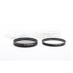OEM Filterset 55 mm E-55: CPL Polfilter + UV Filter (220197)