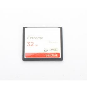 SanDisk Compact-Flash Karte Extreme 32GB 120 MB/s UDMA 7 (220529)