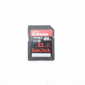 Sandisk SD Karte 32GB 80 MB/s Extreme (221650)