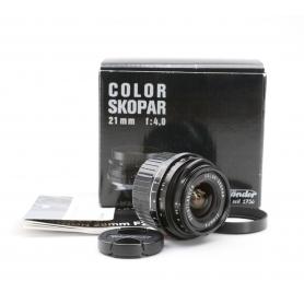 Voigtländer Color Skopar 4,0/21 für Leica-M (222084)