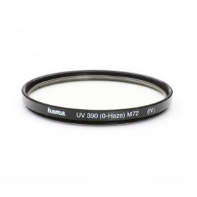 Hama UV-Filter 72 mm UV 390 (0-Haze) (IV) E-72 (222054)