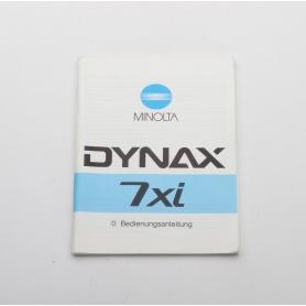 Minolta Bedienungsanleitung Dynax 7xi (222256)