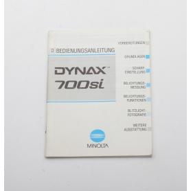 Minolta Bedienungsanleitung Dynax 700si (222260)