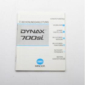 Minolta Bedienungsanleitung Dynax 700si (222261)