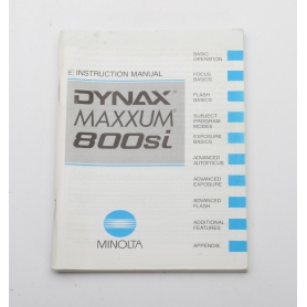 Minolta Bedienungsanleitung Instruction Manual Dynax Maxxum 800si (English) (222262)