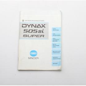 Minolta Bedienungsanleitung Dynax 505si Super (222276)