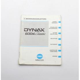 Minolta Bedienungsanleitung Dynax 600si Classic (222279)