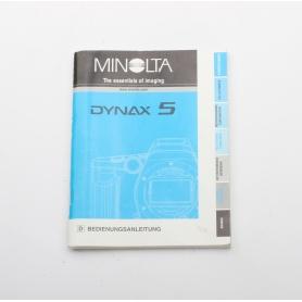 Minolta Bedienungsanleitung Dynax 5 (222281)