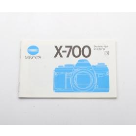 Minolta Bedienungsanleitung X-700 (222282)