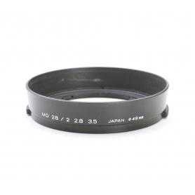 Minolta MD 28 mm F2.8 & 3.5 Sonnenblende Lens Hood 49 mm (222958)