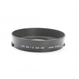 Minolta MD 28 mm F2.8 & 3.5 Sonnenblende Lens Hood 49 mm (222959)