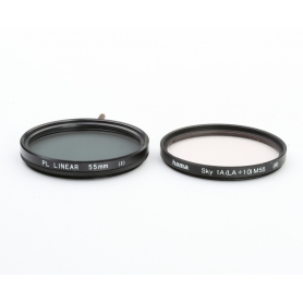 Hama Filterset 55 mm E-55: CPL Polfilter Linear + UV Filter (223199)