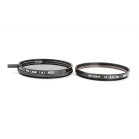 OEM Filterset 55 mm E-55: CPL Polfilter Linear + UV Filter Skylight (223202)