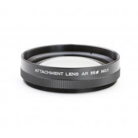 Konica Attachment Lens AR No 1 Makro-Linse Close-Up Lens 55 mm Nahlinse E-55 (223220)