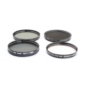 OEM Filter Set 58 mm E-58: Polfilter Linear, UV Sky Filter, 2x Graufilter (223275)
