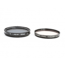 OEM 2x Filter Set: Linear Polarizer 49 mm Polfilter E-49 + Tamron 49 mm Skylight 1A UV-Filter (223284)
