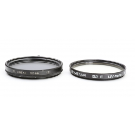 OEM 2x Filter Set 52 mm: PL-Linear Polfilter E-52 + Bewetar UV-Haze UV-Filter E-52 (223297)