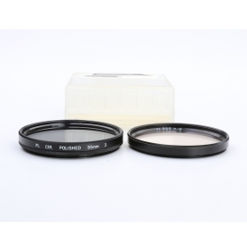 OEM 2x Filter Set 55 mm: PL-CIR Polfilter E-55 + B+W 1x UV-Filter E-55 (223301)