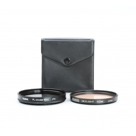 OEM 2x Filter Set 62 mm: Hama PL Circular Polfilter M62 + Presenta Skylight UV-Filter E-62 (223311)