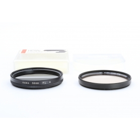 OEM 2x Filter Set 58 mm: Hama PL Polfilter + B+W 58ES KR1.5 1.1x UV-Filter E-58 (223317)