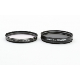 OEM 2x Filter Set 49 mm: Cokin Polarizing Polfilter + Eximar Skylight Japan UV-Filter E-49 (223322)