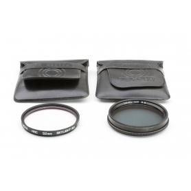 OEM 2x Filter Set 52 mm: B+W 52E TOP-Pol Polfilter + Hoya HMC 52 mm Skylight (1B) UV-Filter E-52 (223323)