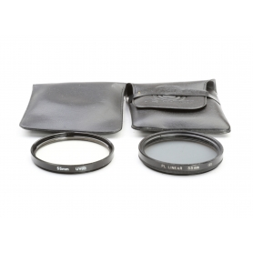 OEM 2x Filter Set 55 mm: PL-Linear (2) Polfilter + UV-Filter UV(0) E-55 (223325)