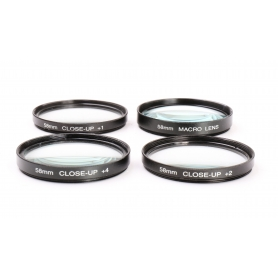 OEM 4x Set von Close-Up 58 mm Nahlinsen: Macro Lens, +1, +2, +4 E-58 (224000)