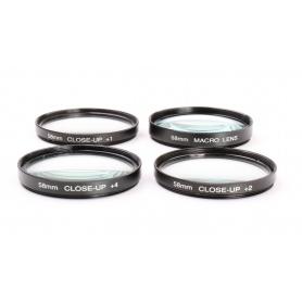 OEM 4x Set von Close-Up 58 mm Nahlinsen: Macro Lens, +1, +2, +4 E-58 (224000)